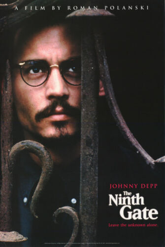 POSTER : MOVIE REPRO : THE NINTH GATE JOHNNY DEPP FREE SHIPPING RP83 K