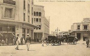 Carte Carrefour Maroc.Details About Cpa Morocco Casablanca Carrefour Avenue General Moinier Show Original Title