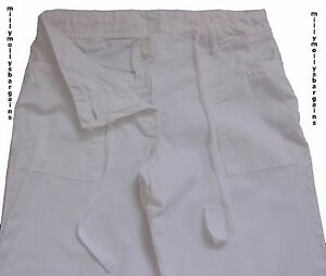 New-Womens-White-Linen-NEXT-Trousers-Size-12-10-8-6-Long-Regular-Petite