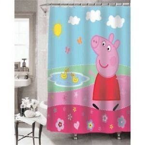 Image Is Loading Peppa Pig 039 S Pond Shower Curtain