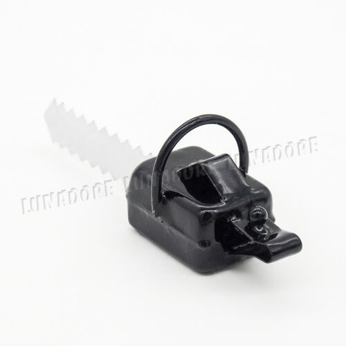 1:12 Chainsaw Dollhouse Electric Saw Garden Lawn Tool Miniature Accessory Black