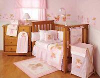 Kidsline Twirling Around Baby Nursery Window Valance Pink & White 60 X 14
