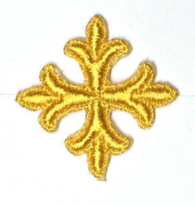 Frances-Cruz-Sobrepuesto-Bordado-1-034-con-Plancha-Oro-k-Emblema-Parches-12-Piezas