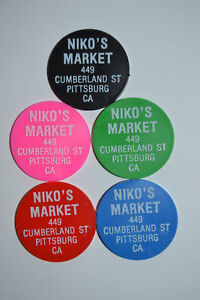 Details About Food Stamp Tokens Set 5 Niko S Market Pittsburg Pa