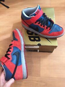 best loved 58b2a 8ad80 Image is loading Nike-Dunk-Mid-SB-Spider-Man-Size-13-