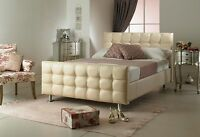 Beds For Sale Best Price Faux Leather Cream Single Beds Double Beds Made In Uk
