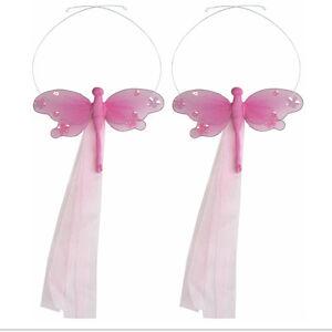 Details about DRAGONFLY TIEBACKS Dk Pink Jewel Curtain Holdback Tie Back  Kids Nursery PAIR