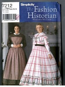 2002 Misses/'s Civil War Period Dress And Undergarments UC FF Size 6,8,10,12 Simplicity  Sewing Patterns 7212 And 9769