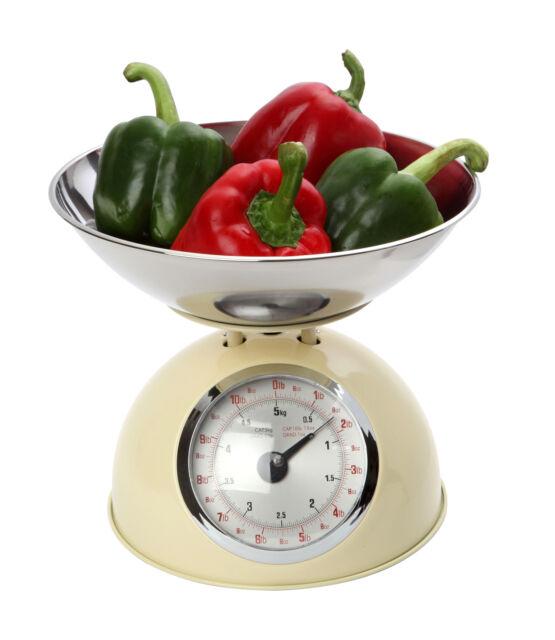 Dexam Retro Design Traditional Mechanical Kitchen Scales Cream 5kg 11lbs New