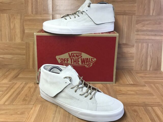 73d4d3044c RARE🔥 VANS Sk8-Mid Moc CA Oyster Gray Pig Suede Sz 13 Shoes Native