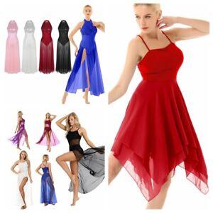 Women-Girl-Sleeveless-Chiffon-Maxi-Dress-Contemporary-Lyrical-Dance-Party-Dress