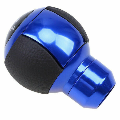 Manual MT Gear Stick Shift Knob Shifter Lever Cover Button Blue Universal fit
