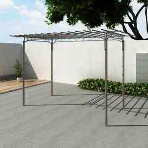 vidaXL-Pergola-de-Jardin-Acero-Marron-215-cm-Cenador-Arco-de-Rosas-Enredaderas