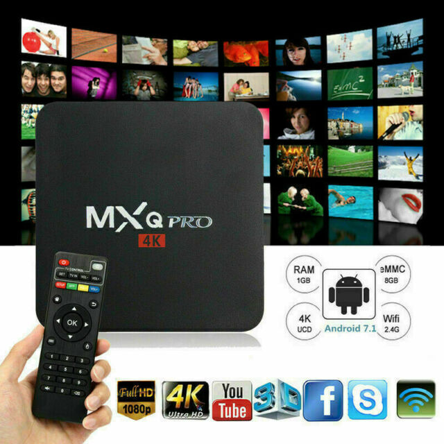 MXQ Pro 4K Kodi 17.6 Android 8GB Smart TV Box w Remote