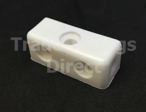 White Modesty Bolcks Furniture Cabinet /& Cupboards Joint Connector Blocks Fixit