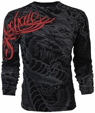 ARCHAIC by AFFLICTION Mens LONG SLEEVE T-Shirt DRAGON RAGE Tattoo Biker UFC $58