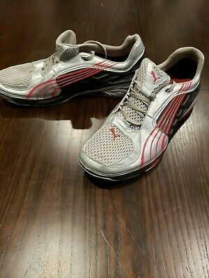 Puma L.I.F.T. Lift Racer Shoes Sneakers - Silver/Red/Black - Rare!