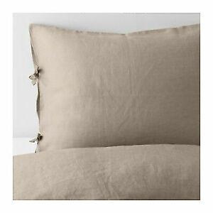 IKEA PUDERVIVA Duvet Cover Set GREEN TEAL TWIN QUEEN KING 100/% LINEN NEW FREESHP