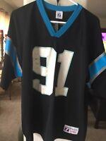 NFL Carolina Panthers #91 Greene Sz. Large Men's Logo 7  Jersey