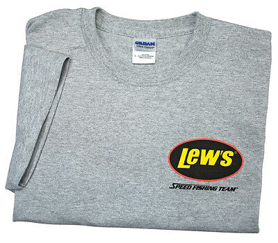 Lew/'s Gray Small Short Sleeve T-Shirt FREE US Shipping