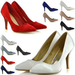 Womens-Stiletto-High-Heels-Pointed-Toe-Ladies-Party-Office-Court-Shoes-3-9