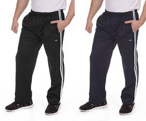 Mens-Adults-2-Stripe-Jog-Pant-Jogging-Tracksuit-Gym-Bottoms-Trousers-Size-M-2X