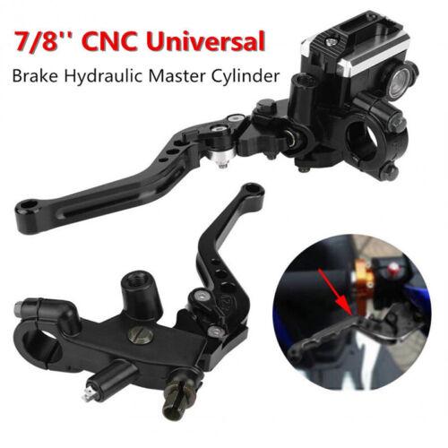 """7//8/"""" 22mm Motorcycle CNC Front Brake Clutch Master Cylinder Lever Reservoir M10"""
