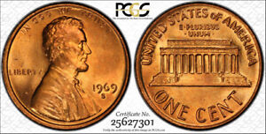 1969-S-1C-PCGS-MS66RD-Lincoln-Cent-RicksCafeAmerican-com