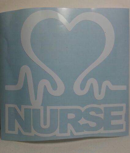 "Nurse Heartbeat Love Nursing Vinyl Truck Car Window Sticker Decal RN 5/"""
