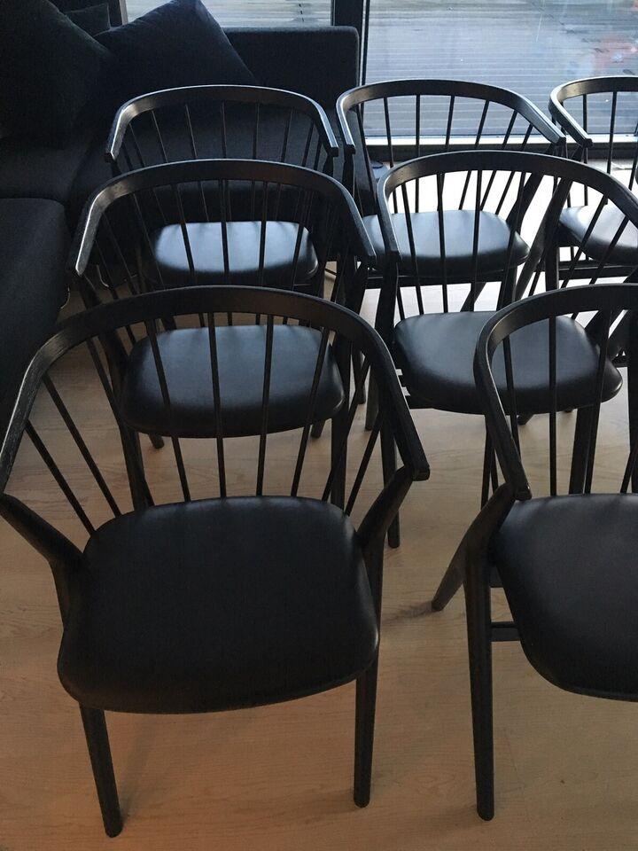 Spisebordsstol, Eg/læder, Sibast