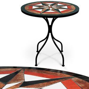 Table-en-pierre-de-mosaique-60cm-4-pieds-Interieur-exterieur-Jardin-salon