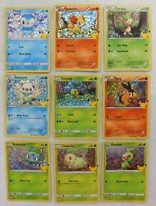 Pokemon 25th Anniversary Mcdonalds 2021 Promo Holo Card Pick Your Holo Cards
