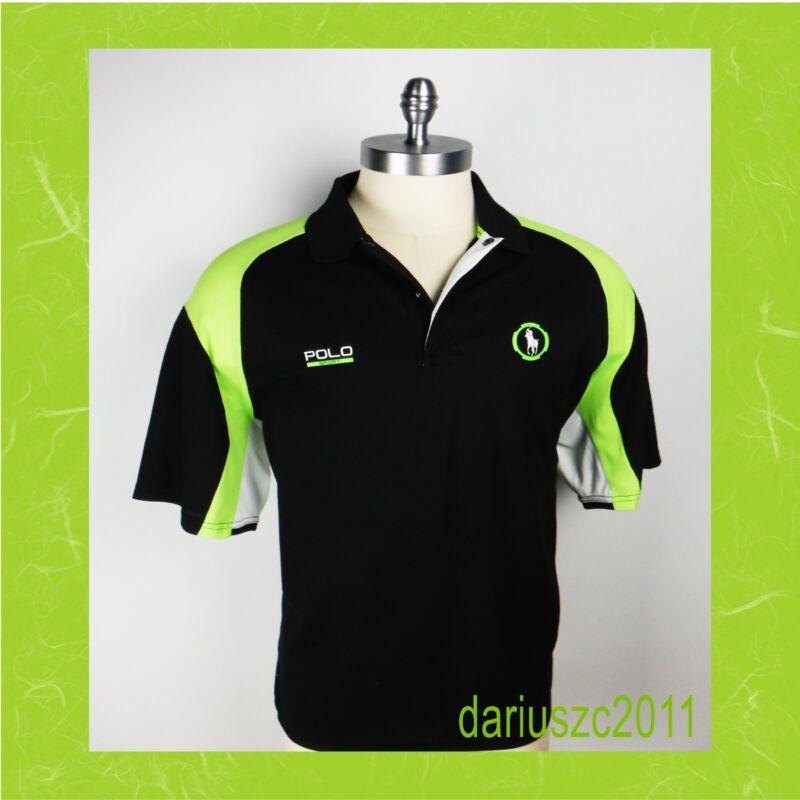 $125 Men's Ralph Lauren Polo Sport Micro-dot Jersey Polo Shirt Size 1xb Black