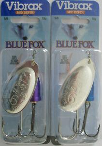 Silver Blue Spinner Fishing Lure Vintage Blue Fox Super Vibrax 5//8 oz