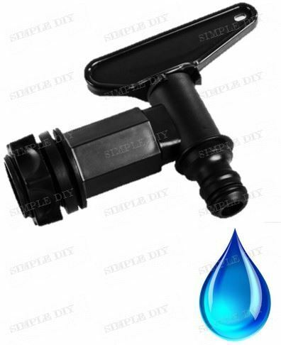 Water Butt Tap Replacement Hose Pipe Tap Release Universal Barrel Tub Connector
