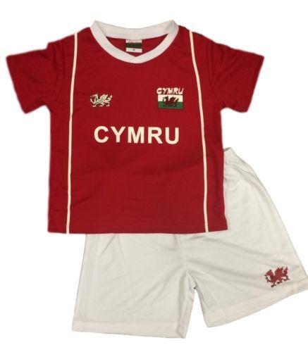 Pays de Galles Bébé Garçons Cymru euros top Enfants Welsh Football Kit * Personnalisé
