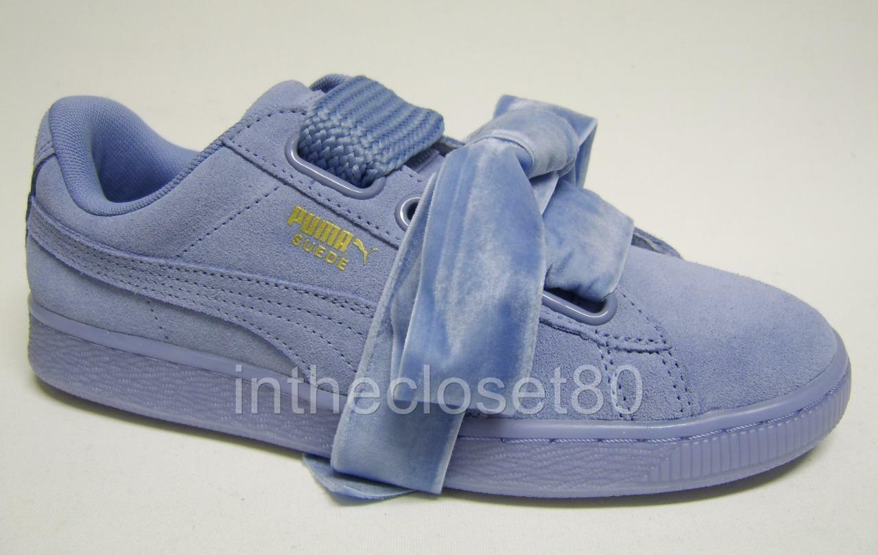 Puma Basket Leder Heart Suede Leder Basket Lavendar Blau Purple Damenschuhe Trainers 363229 04 510d41