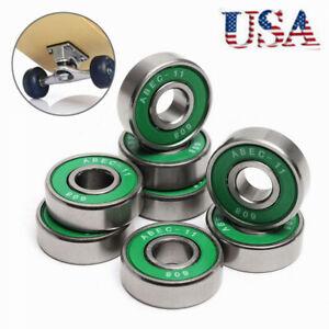 8Pcs-608-ABEC-11-Skate-Roller-Inline-Scooter-Bearings-Green-Shields-USA