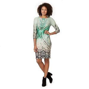 Star-By-Julien-Macdonald-Designer-Green-Jungle-Print-Dress-UK-Size-10-Box45-15-Y