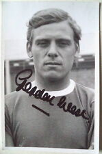 GORDON WEST BLACKPOOL EVERTON & ENG 60s SIGNED POSTCARD