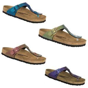 694332f5ac5 Birkenstock Gizeh Graceful Gemm Red Gold Violet Blue Sandals Slides ...