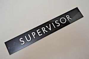 Image is loading Supervisor-Factory-Office-Door-Nameplate-Sign-Title-Raised- & Supervisor Factory Office Door Nameplate Sign Title Raised Letter ...