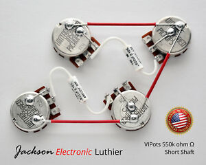 Details about Les Paul Wiring Harness 550k Kit Centralab Spec VIP Short on