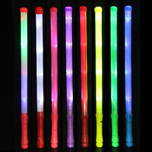 1X-Wand-LED-Glow-Flashing-Light-Up-Stick-Patrol-Blinking-Concert-Party-Favors-D7