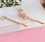 2 Colours UK Seller NEW Beautiful Pair of Gold Star /& Crystal Hair Clips