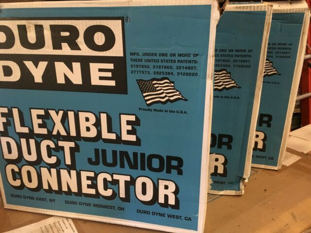 Ubrugte DURO Dyne Flexible Duct Junior Connector 100 Roll Metal Fab MBX FB-25