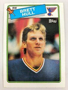 1988-89 Topps Hockey Brett Hull #66 RC Rookie Card NM+