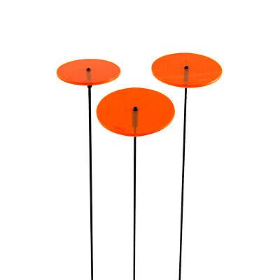 3 Pezzi Sunplay Sole Scatenala Ø 7 Cm Suncatcher Spina Da Giardino Arancione Vetri-