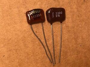 2 condensateurs Silver Mica 1000pF 500V 5/%