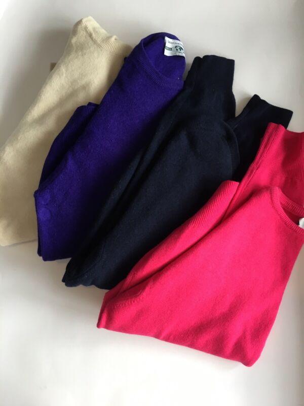 EX M/&CO donna nero in maglia sottile Dettaglio Bottone Bianco Trim Casual Maglione Taglia 10-20